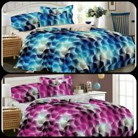 3D Effect Luxury 4 Piece Printed Duvet Quilt Cover Complete Bedding Set all size