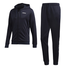 Adidas Men Hooded Tracksuits Set Training Sports Linear French Terry Gym DV2450
