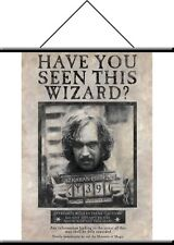"Harry Potter Sirius Black Banner Fabric Wall Scroll 22""x32"" Wanted Sign Rare"