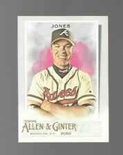 New listing 2020 Topps Allen & Ginter Chipper Jones Card #76 Hall of Fame! Braves NM/MT