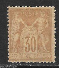 France 1876 30c cinnamon P&C type II vf MINT hinged SG 236 CV £150