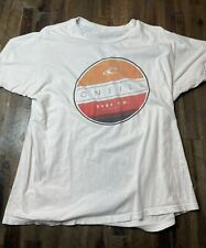 New listing ONeill Mens Large Surfing Brand White Short Sleeve Tshirt Modern Fit