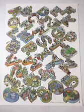 "Alphabet City Scott Teplin 2017 24"" x 18"" Glossy Poster of Letters and Numbers"