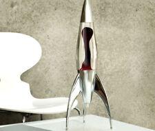 Mathmos Telstar Rocket Lava Lamp - PLUM/BLACK and CLEAR