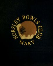 PERSONALISED LAWN BOWLS  TOWEL(BALL & HAND LOGO) AVAILABLE IN 11 COLOURS