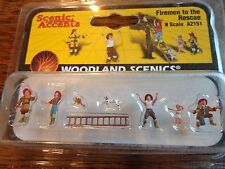 Woodland Scenics N #2151  -  Firemen to the Rescue