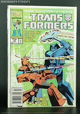 Marvel US Transformers #18 July 1986 Comic G1 Blaster vs Straxus on Cybertron