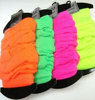 UV Neon Leg Warmers One Size Adults Choose Colours From Green Orange Pink Yellow