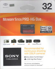 Sony 32 GB Memory Stick PRO-HG Duo MS-HX32B/KQ1 Sealed