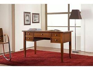 Schreibtisch IN Holz, Farbe Walnuss Kelche Wein 130 CM
