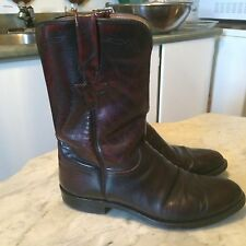 LUCCHESE  cherry roper cowboy western motorcycle ankle mens boots sz 8.5D