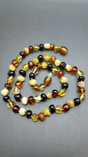 Beautiful Genuine Baltic Amber Necklace MIX Baroque for Girls/Woman