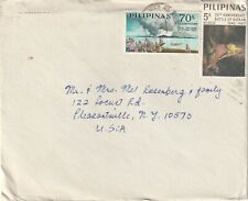Philippines cover sent from Banica Roxas City to Pleasentville NJ USA