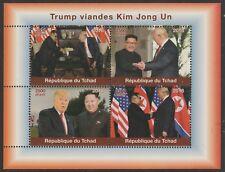 Chad 7636 - 2018 TRUMP & KIM JONG UN perf sheet of 4 unmounted mint