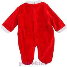 Bambino recién nacido mono Papá Noel frontal mameluco nuevo -386