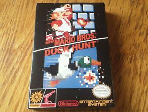 oval seal Super Mario Bros./Duck Hunt complete in box nintendo nes game MINT