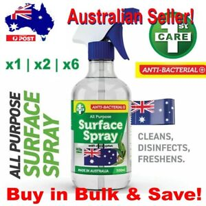 1st Care 500ml Anti Bacterial All Purpose Surface Spray Australian Made x1/x2/x6