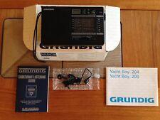 VINTAGE GRUNDIG YACHT BOY 206 SHORTWAVE RADIO / 15 BAND WORLD RECEIVER