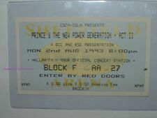 PRINCE & THE NEW POWER GENERATION 1993 Concert Ticket Stub SHEFFIELD U.K. Rare