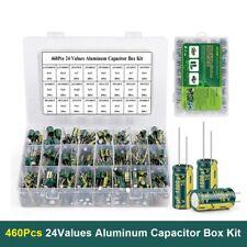460pcs 63v 50v 1uf 1500uf 24values Jccon Electrolytic Capacitor Assortment Kit