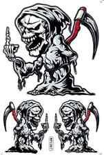 "D510 Skull Reaper Death Racing Tuning Sticker Decal 1 Sheet 10,5""x7"" / 27x18 cm"