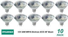 10 x 12V 20W MR16 Gu5.3 Halogen Light Lamp Globes Bulbs 36 Degree Beam Dimmable