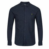 Farah Vintage Mens Shirt Slim Fit Brushed Kreo RRP £65