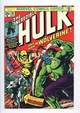 Incredible Hulk #181 Vol 1 Near Perfect High Grade 1st Wolverine w/ Marvel Stamp