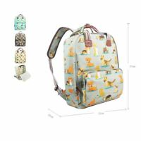 New Dog Print Canvas Laptop Rucksack Retro Backpack