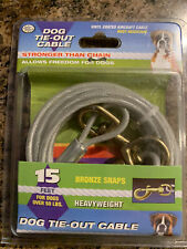 Four Paws HEAVY WEIGHT Dog Tie Out Cable 15' Long Cable