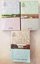 BORN IN TRILOGY COMPLETE SET NORA ROBERTS 3 BOOK PAPERBACK LOT