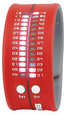 Blox Fashion timestrap LED Reloj Unisex bx15005 LED SILICONA ROJO