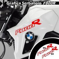 GRAFICA CARENA ADESIVO SERBATOIO BMW F800R F800 R CARENE STICKERS ROSSO ADESIVI