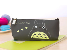 PU Leather Cartoon Totoro Pencil Case Cosmetic Makeup Pouch Zipper Bag Anime
