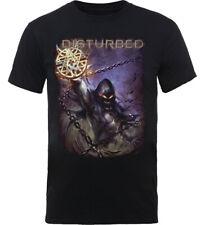 Disturbed 'Vortex Colours' (Negro) T-Shirt - ¡NUEVO Y OFICIAL!