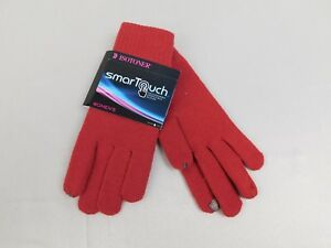 Isotoner SmarTouch Knit Touchscreen Tech Gloves Henna Red One Size #6437