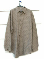 The Territory Ahead Men's Brown Dress Shirt Long Sleeve 100% Cotton 2XL/T