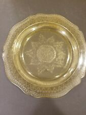 Federal Patrician Spoke Pattern Amber Yellow Depression Glass Dinner Plate 11""