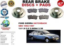 FOR FORD SIERRA GBC HATCHBACK 82-86 REAR BRAKE DISCS SET + BRAKE PAD KIT