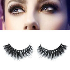 Handmade Real Horse Hair Natural Long Cross False Eyelashes Eye Lashes Makeup