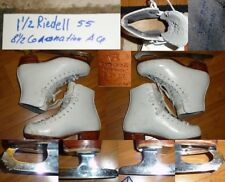 Ice Figure Skates Riedell 55 with size 8.5 Wilson Coronation Ace Girls Size 1.5