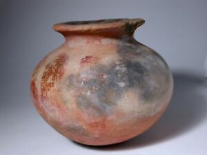 Pre-Columbian Mayan Incan Aztec Red Black White Pottery Jar Museum Deaccession