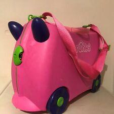 Trunki Children/'s Fire Engine RUOTA BAGAGLI ROSSA FRANK Cavalcare Valigia da Viaggio