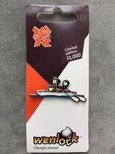 Wenlock Mascot Rowing Sport Pin Badge | London 2012 Olympic Games