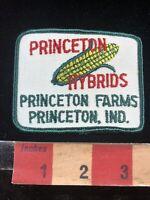 Vtg Farmer Corn PRINCETON HYBRIDS PRINCETON FARMS Indiana Advertising Patch 00RG