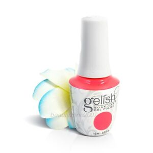 Harmony Gelish UV Soak Off Gel Polish 1110222 Hip Hot Coral 0.5oz