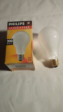Glühlampe / Normallampe matt, 200 W / E 27 / 230 V Philips Classictone, neu, OVP