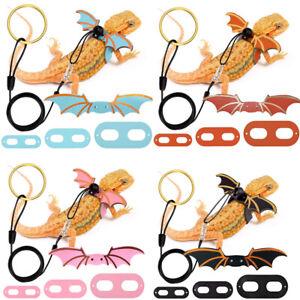Bearded Dragon Lizard Reptile Leash Harness Adjustable Leather Wings Walking Toy