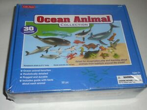 LAKESHORE OCEAN ANIMAL COLLECTION, 30 ANIMALS TOY (NEW)