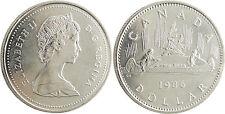 CANADA  ,  ELIZABETH  II  ,  DOLLAR  1986  ,  PIROGUE  ,  INDIENS
